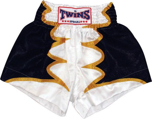 Twins Twins Thai Style Trunks White Bat Wings